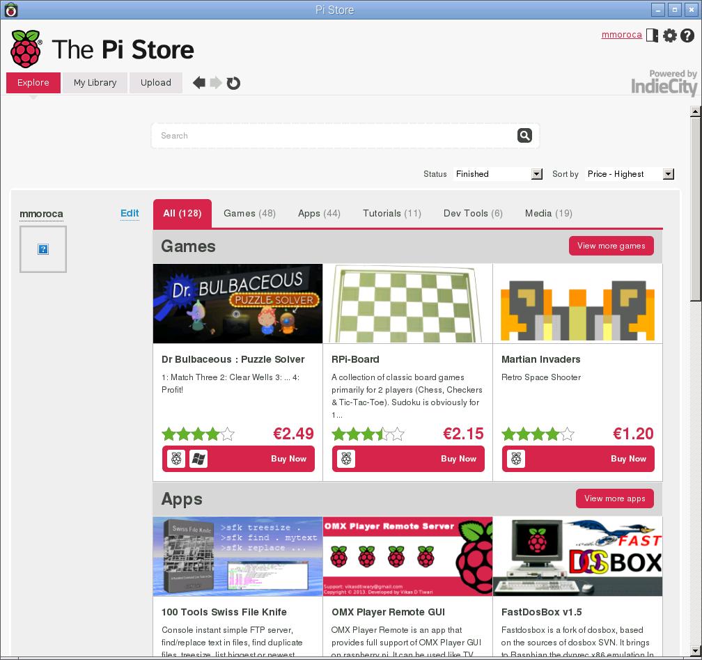 Pi Store, la tienda de aplicaciones de la Rasberry Pi