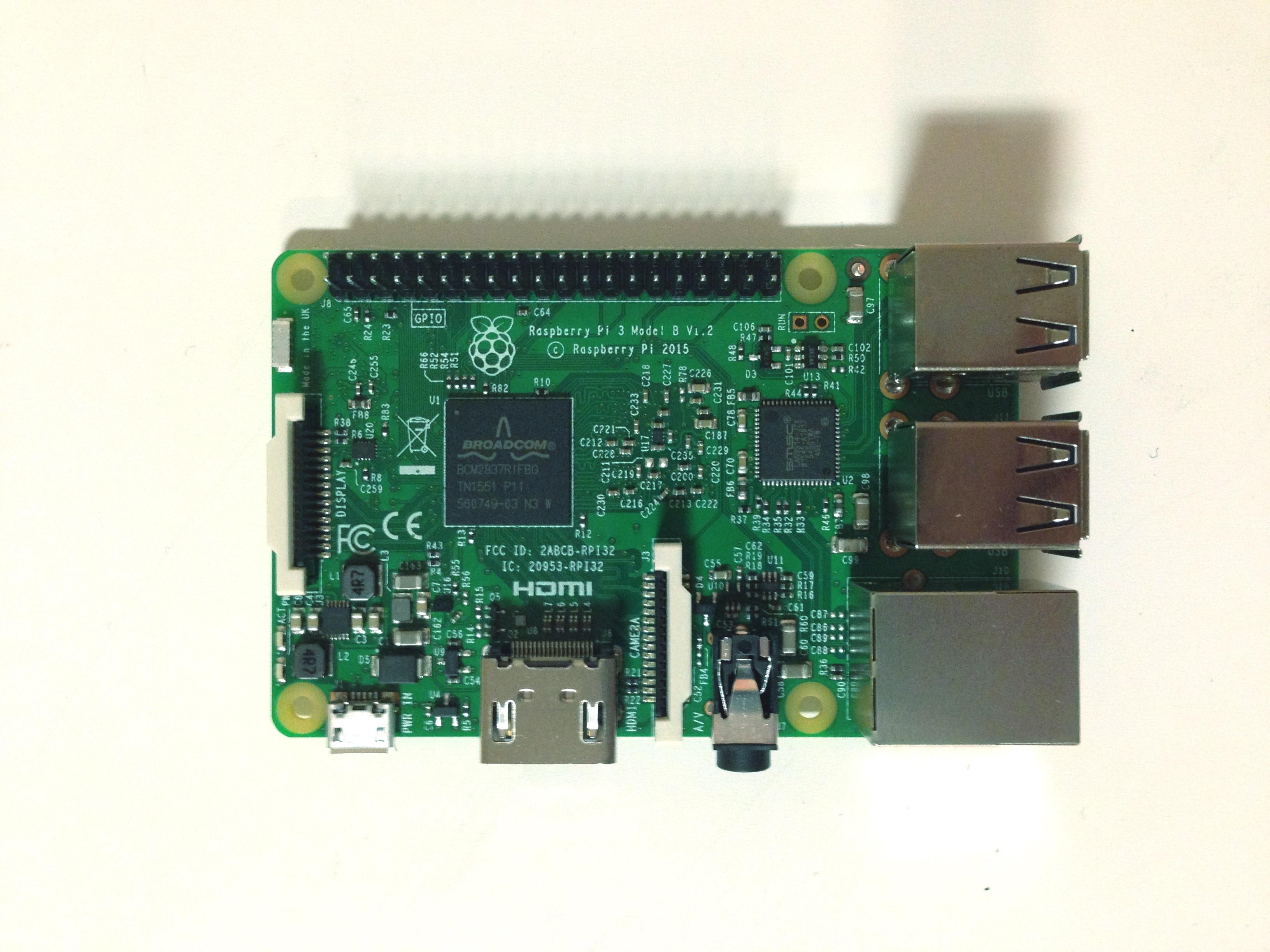 Raspberry Pi 3 Arriba