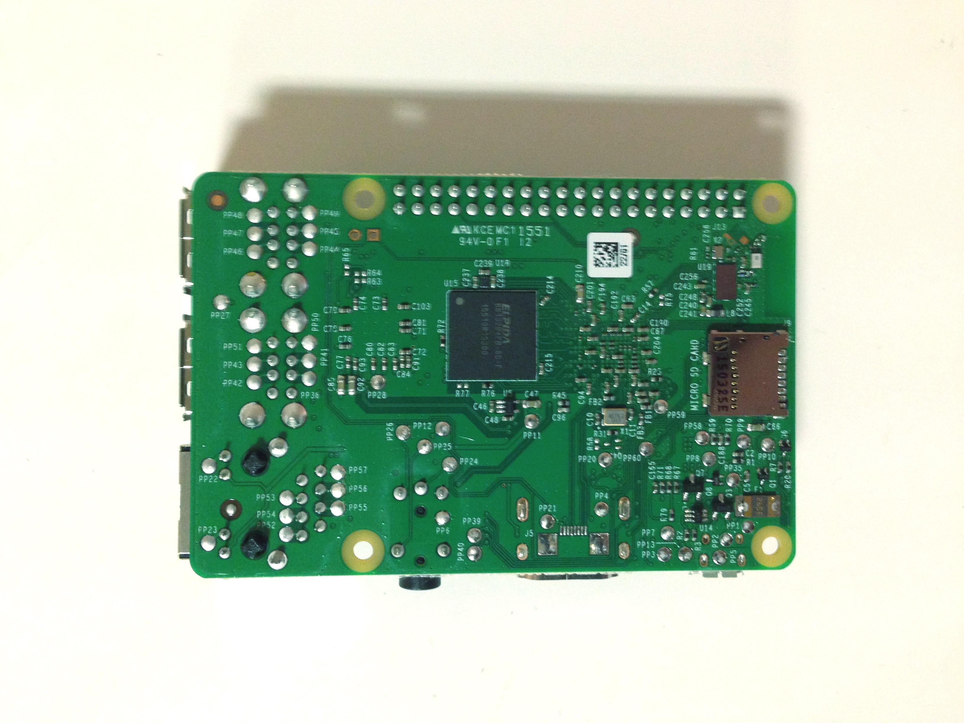 Raspberry Pi 3 Abajo