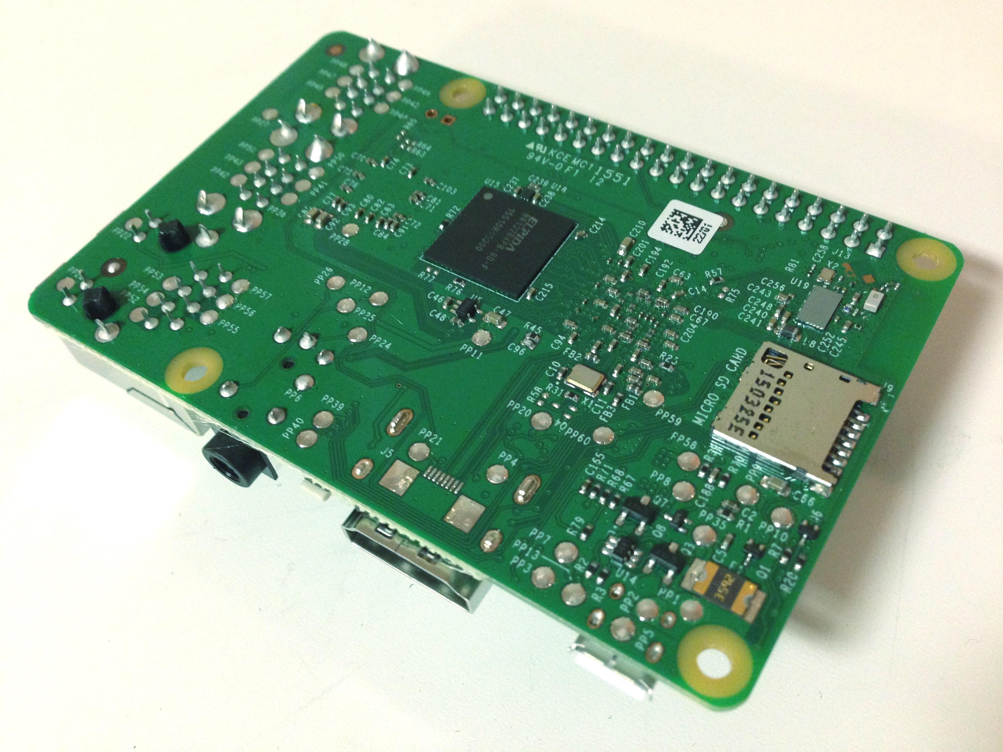 Raspberry Pi 3 Abajo angulo)