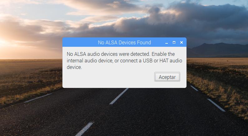 No se detecta la tarjeta de sonido en la Raspberry Pi